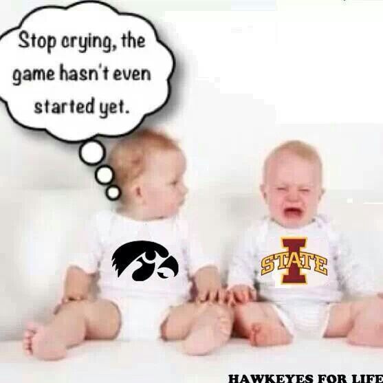 LOL...a little Iowa humor before they meet up.