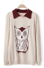 Owl Pattern Sweater