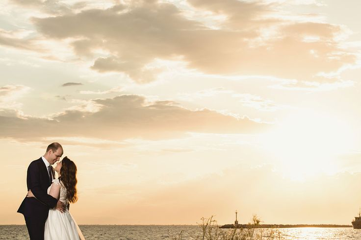 Romantic Kiss in Greek Sunset #p2photography #wedding #photography #bride #couple #romantic