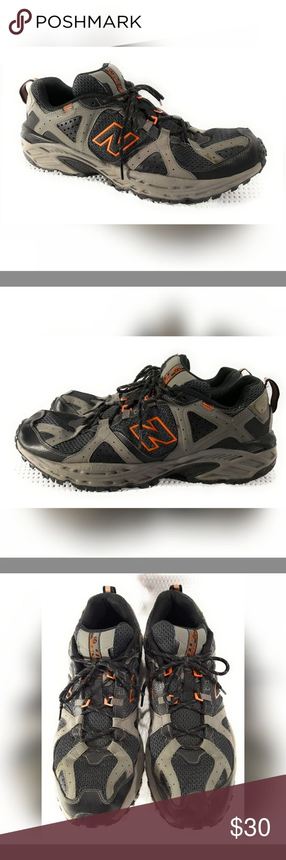 New Balance 481 All Terrain Shoe SZ 14 Excellent Shape Gray Black Orange Ortholite New Balance Shoes Athletic Shoes