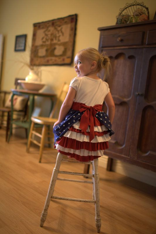 4th of July - Blog - Red, white, and blue Bustle Dress