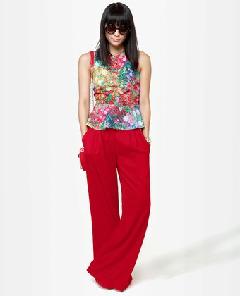 Key to the City Red Wide-Leg PantsWide Leg Pants, Wideleg Pants, Red Wideleg, Wide Legs Pants, Keys, Cities Red, Red Wide Legs, The Cities, Red Pants
