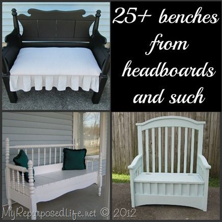 My Repurposed Life-25+ headboard benches (tons of tips and tutorials)
