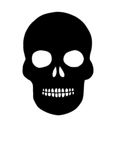 skull stencil template 4