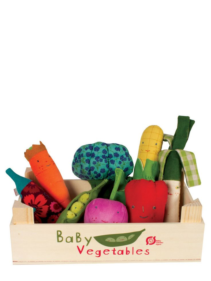 Baby Vegetable Rattle Crate