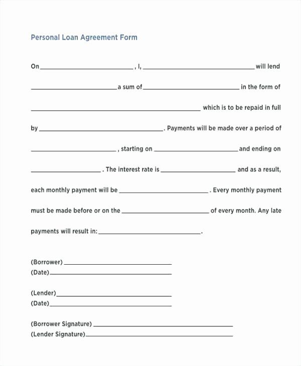 Simple Loan Application Form Template Best Of Agreement Template Format Simple Loan Related Post Contract Template Personal Loans Loan Application
