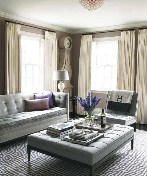 Ottoman In Living Room: Anchor Rugs Under Furniture Feet €� Follow These Basic