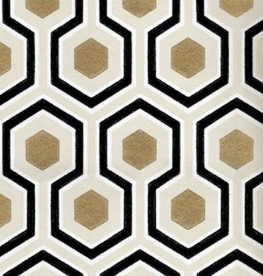 David Hicks Hexagon Wallpaper
