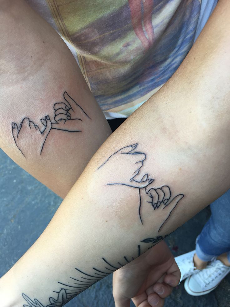 Sister tattoo pinky promise ink me pinterest tattoo for Pinky finger tattoos