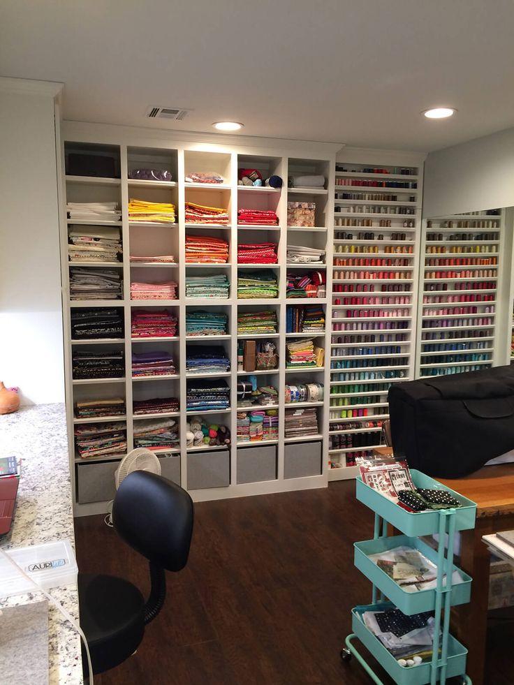 Sewing Room Tours: Ein erfolgreicher Umbau der Nähstube   – sewing room ideas