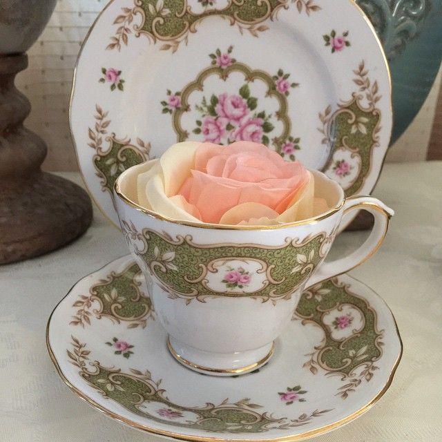Duchess Branville trio, 4 sets available - P1950 each. #shabbychicphl #shabbychicphilippines #duchess #bonechina #madeinengland  http://www.shabbychicphl.com/product/duchess-branville-trio/