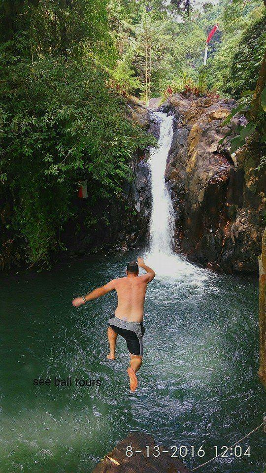 cliff jumping in kroya waterfall secret garden
