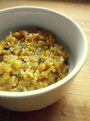 S vášní pro jídlo: Dýňové risotto s houbami a plísňovým sýrem