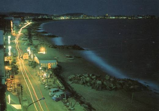 Foto antigua, de 1972, del Paseo de Calonge, Gerona