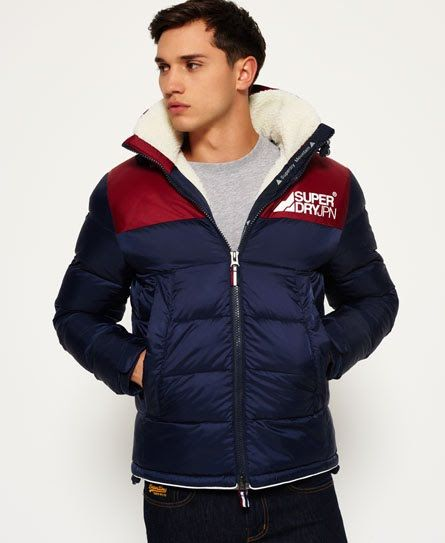 Superdry Giacca in tessuto sherpa Mountain Mark Navy