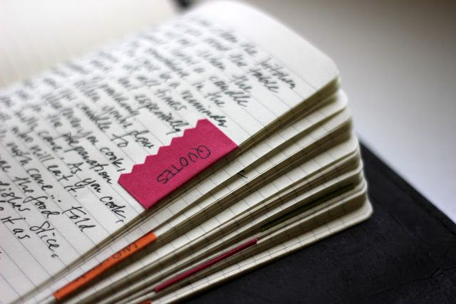 Like the way tabs can be made simply this way - - - Making This Journal Mine