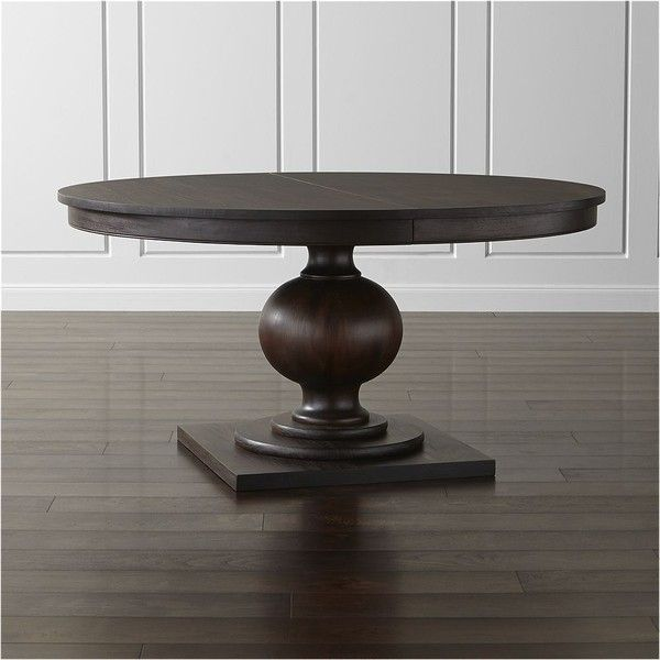 "Crate & Barrel Winnetka 60"" Round Extendable Dining Table (14,595 CNY) ❤…"