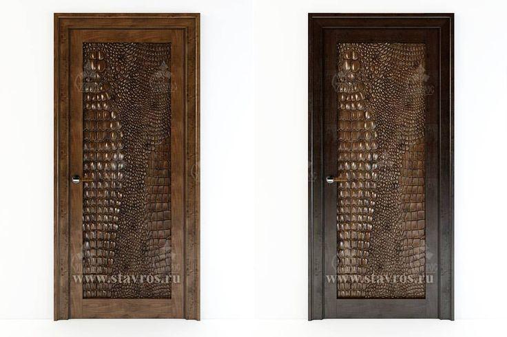 """А вот и обещанный нами один из вариантов применения новой фактуры """"Крокодиловая кожа"""" - в качестве декоративной вставки для декорирования межкомнатной двери.  На наш взгляд получилось эффектно, а вам нравится?  Design-project of the door with decorative insertion from wood """"Crocodile skin"""". #Ставрос #декор #дизайндверей #длядизайнеров #дизайн #интерьер #дверимосква #двериизмассива #дверииздуба #эксклюзивныйдизайн #двериназаказ #декордверей #межкомнатныедвери #дверь #двери #дверимежкомнатные…"""