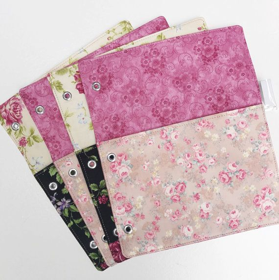 3 Ring Binder Folders Choose Any Fabric in My Shop  by elsiegeneva
