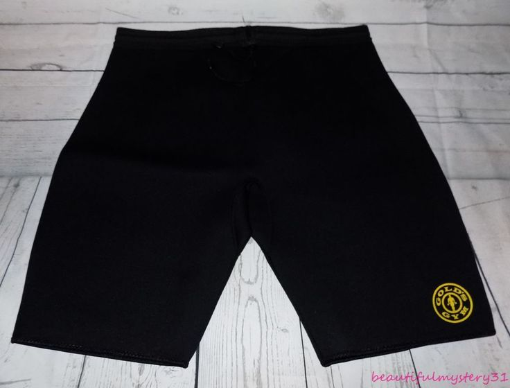 Gold's Gym Black Neoprene Bodybuilding Weight Lifting Compression Shorts -L XL- #GoldsGym