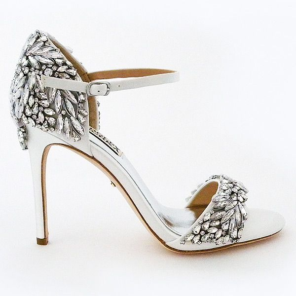 Badgley Mischka Tampa, Crystal Encrusted Bridal Sandals ~ Bridal sandals with major sparkle that elevate the glam factor.