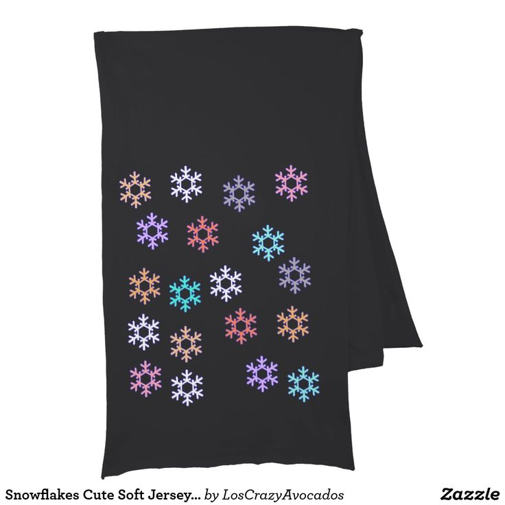 Snowflakes Cute Soft Jersey Scarf