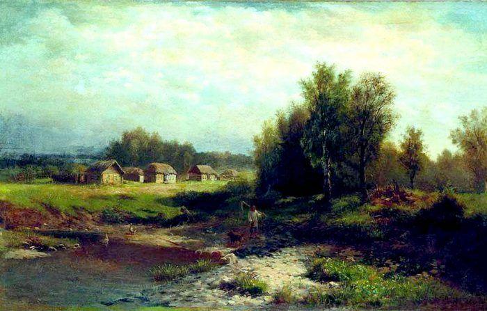 Lev Kamenev (1833-1886).  The Village.