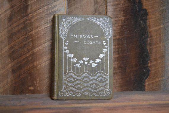 Emersons Essays; Ralph Waldo Emerson; Emerson Quote; Antique Books for Sale; Rare books; Essays by R W Emerson