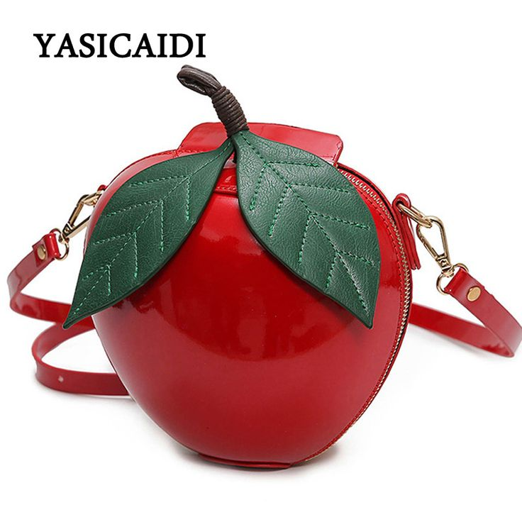 Women Crossbody Bags Famous Brand Red Circular Apple Bag Fashion Female Messenger Bags Leaves Mini Bags for Teenager Girls-in Crossbody Bags from Luggage & Bags on Aliexpress.com | Alibaba Group