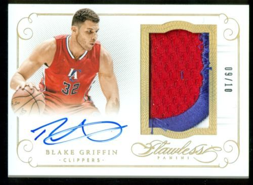 2014-15 Flawless Blake Griffin Clippers Jumbo Patch Autograph Gold 9/10 (AT)