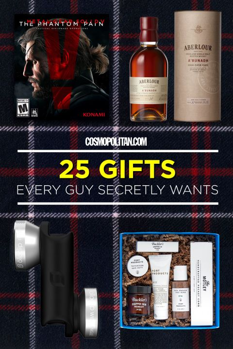 BEST GIFTS FOR GUYS: Cosmopolitan.com asked actual guys what they *really* want for Christmas and here's what they said! This gift roundup includes fun stuff for the foodie, gamers, tech lovers and nerds, and so much more. Click through for the best holiday gifts for guys!