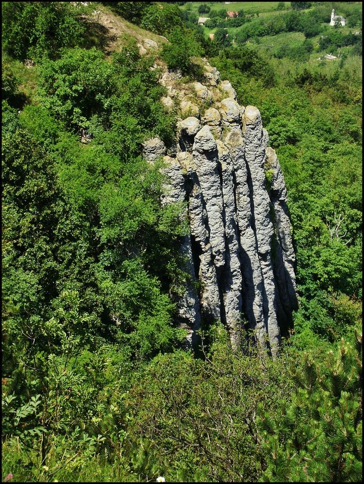 Basaltsäulen in der Nähe von Badacsony