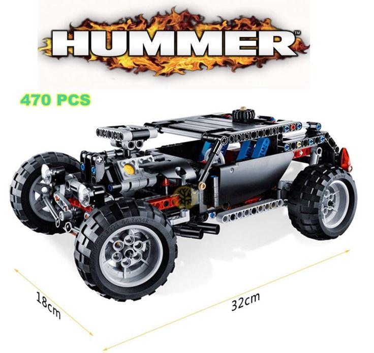 470 шт. Hummer транспорт внедорожник гоночный автомобиль такер строительство пластиковая модель строительные блоки кирпичи , совместимые с лего