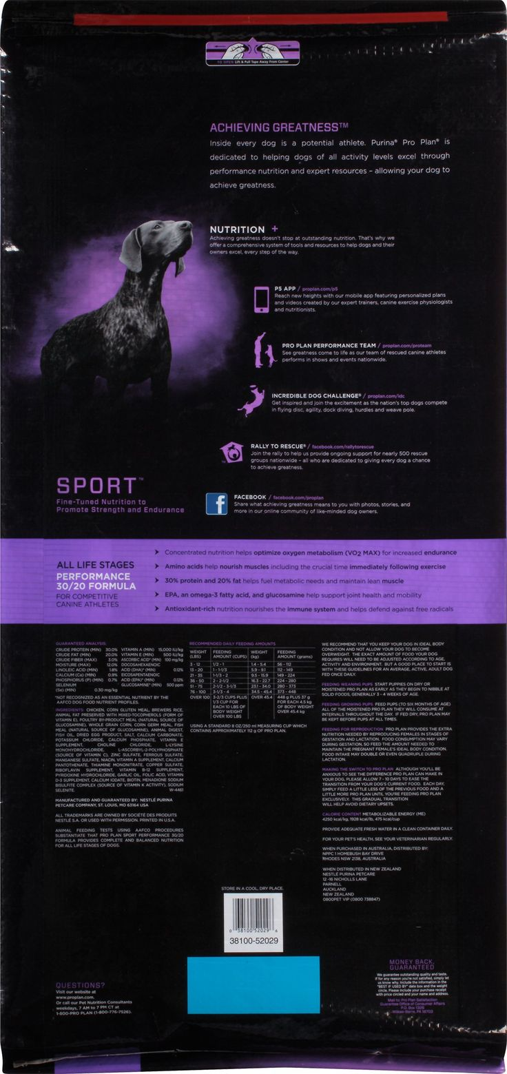 Purina Pro Plan SPORT All Life Stages Performance 30/20