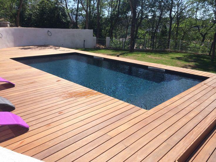 Les 25 meilleures id es concernant piscine rectangulaire sur pinterest am nagement paysager de for Piscine en bois rectangulaire