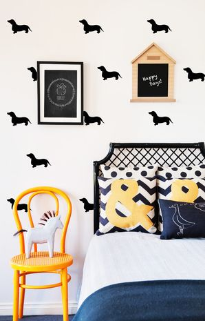 Black Dachshund Wall Decals - via DTLL.