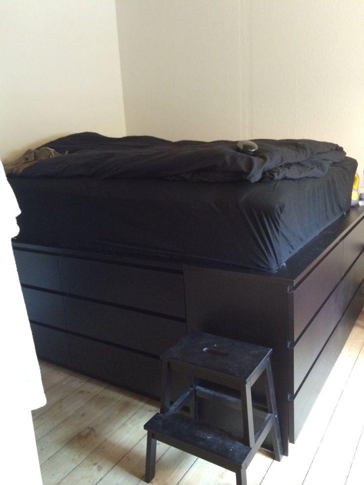 Ny seng med opbevaring