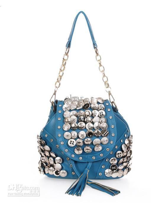 Wholesale Backpack Style - Buy Fashion Joker Lady Women PU Leather Shoulder Handbag Tote Hobo Purse Leisure Button Decoration Backpack Style, $19.32 | DHgate