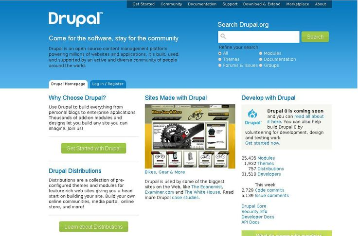 Drupal  For More: http://www.themangomedia.com/blog/selecting-right-cms-website-for-your-business-with-industry-trends/