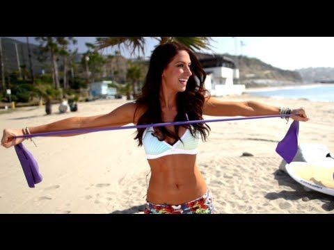 Your String Bikini Workout with Karena~ All you need is a resistance band and a smile for this follow along video!
