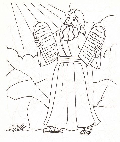 43 Moses And The 10 Commandments Coloring Pages