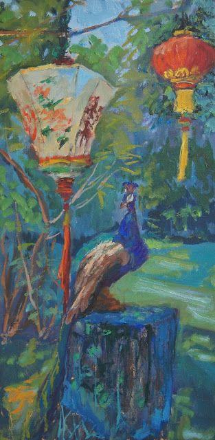 Peacock Painting By Rachel Uchizono