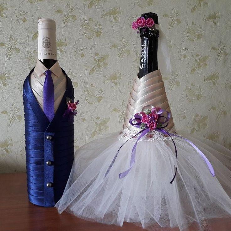 Свадьба – долгожданное, грандиозное событие, поэтому в этот день должно быть все идеально, начиная от самых мелких аксессуаров, закачивая оформлением банкета. Молодожены много времени уделяются выбору атрибутов, обращая внимание на их декор, сочетание между собой. Обязательным аксессуаром на свадебном банкете является шампанское, которое супруги оставляют себе до первой годовщины и рождения первенца. #handmade32_свадьба #свадебноешампанское #подаркиручнойработыбрянск