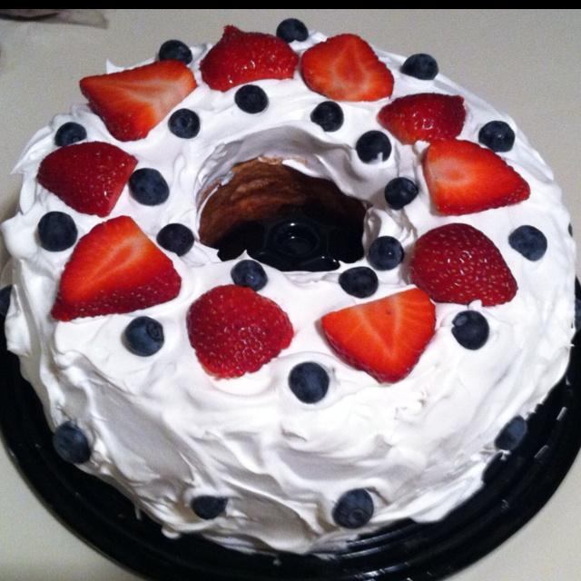 Angel food cake, cool whip, and fruit.. Delish | Food ...