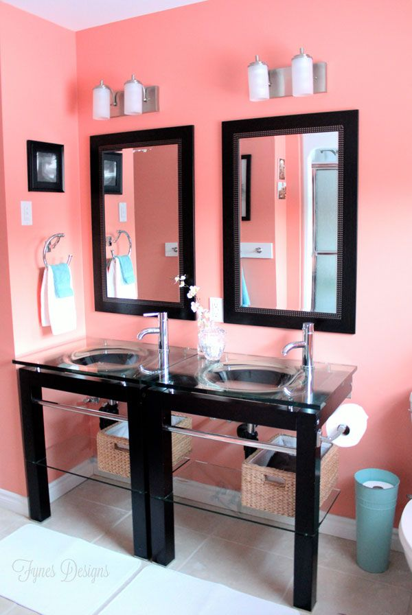 Cheap bathroom makeover #homedepot #voiceofcolor I would have splurged on one big mirror though