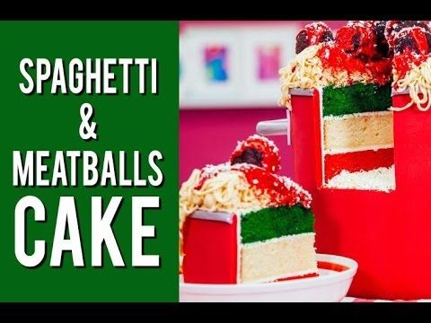 Vanilla Spaghetti & Meatballs Cake with Raspberry Buttercream Sauce an – HOW TO CAKE IT