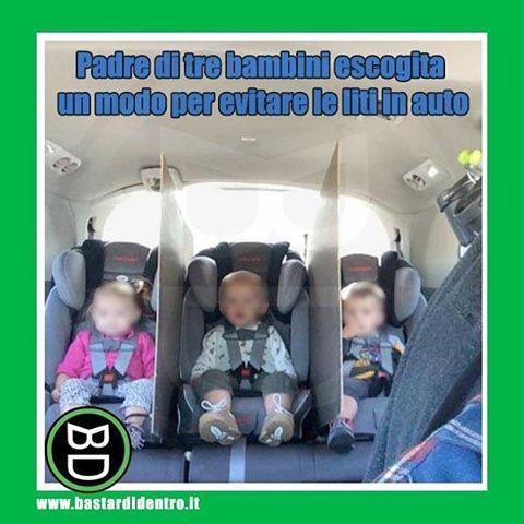 Un sistema semplice ma efficace!#bastardidentro #auto #figli #ipnoticamentebastardidentro Condividete il divertimento… www.bastardidentro.it