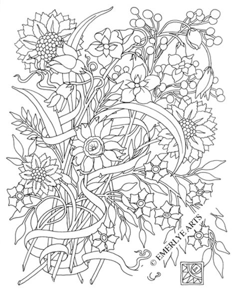 Cynthia Emerlye, Vermont artist and kirigami papercutter: Adult Coloring