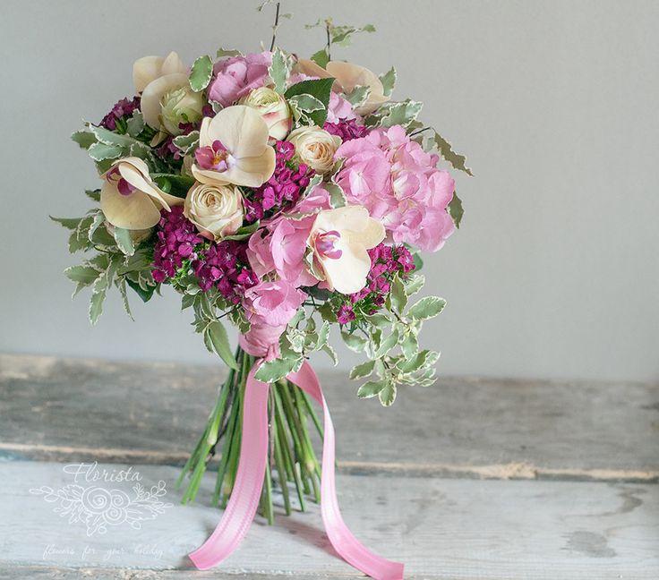 гортензия. орхидея, цветы, гвоздика, подарок. флористика. доставка цветов