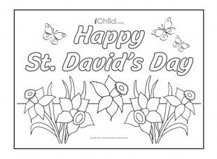 Your child can colour in this St. David's Day poster and stick it on the wall to celebrate the National day of Wales.